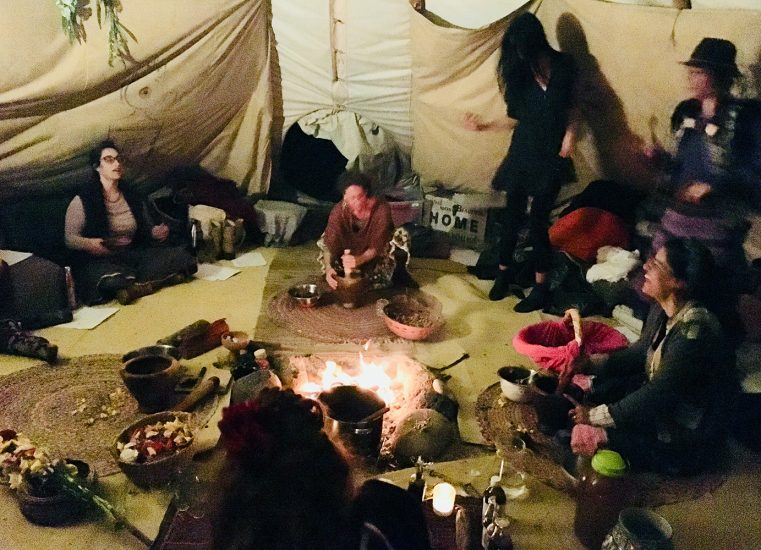 Cacao Beauty Ceremony in a Teepee
