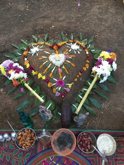 Altar for a Cacao Ceremony in Nature.