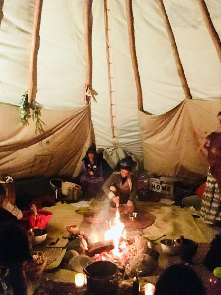 Womens ~Ceremony in a Teepee